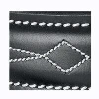 USG Ledergürtel silberfarbene Schnalle schwarz Edelstick 90 cm