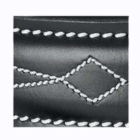 USG Ledergürtel silberfarbene Schnalle schwarz Edelstick 100 cm