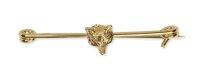 Shires Plastronnadel mit Fuchskopf Plated Stock Pin Foxhead