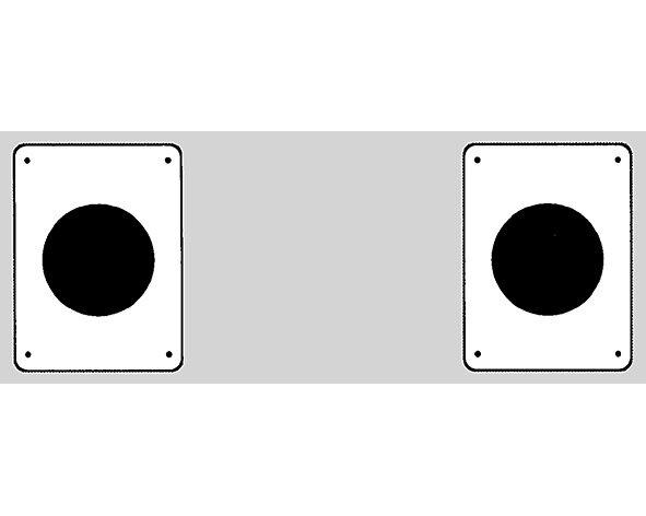 Bahnpunkt Zirkel einzeln rechteckig