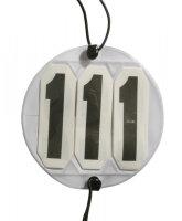 Falt-Kopfnummer LPO erlaubt rund