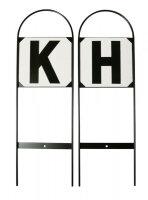 Bahnbuchstaben für den Außenplatz steckbar 12...