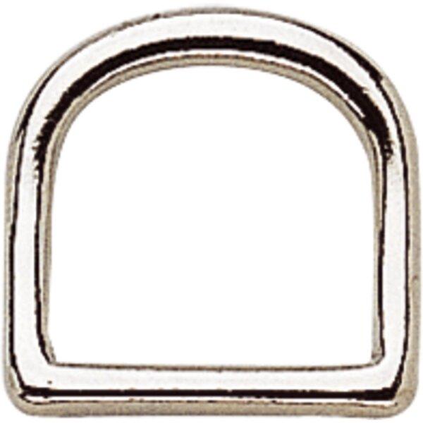 Sprenger D-Ring,Gebogen, Argentan poliert