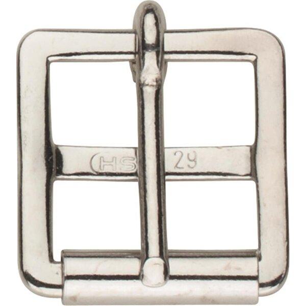 Sprenger Sattelgurtschnalle mit 1mm Rolle, Stahl vernickelt