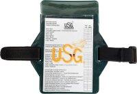 USG Medical card Rückseite mit Samtbezug