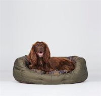 Barbour Quilted Dog Bed 30in Olive