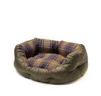 Barbour Quilted Dog Bed 18in Olive