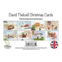 David Thelwell Xmas Karten 8 stck.