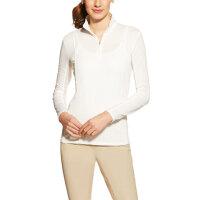 Ariat Damen Pullover Sunstopper 1/4 Zip White F/S 19