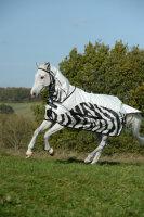 Bucas Regendecke Buzz-off Rain Full Neck Zebra