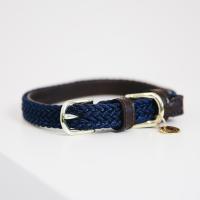 Kentucky Dogwear Geflochtenes Nylon Hundehalsband navy