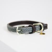 Kentucky Dogwear Geflochtenes Nylon Hundehalsband grey