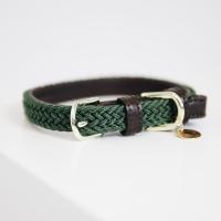 Kentucky Dogwear Geflochtenes Nylon Hundehalsband green