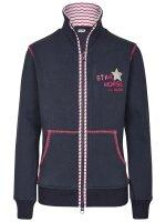 Busse Sweat-Shirt Jacke STAR HORSE navy stripes