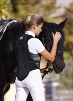 Kerbl adult back protection vest ProtectoSoft black