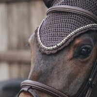 Kentucky Horsewear Fliegenhaube long stone & pearl braun