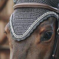 Kentucky Horsewear Fliegenhaube long stone & pearl grau
