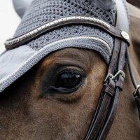 Kentucky Horsewear Fliegenhaube Wellington basic velvet grau