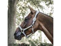 Kentucky Horsewear Lederhalfter Anatomic suede grau