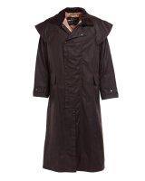 Barbour Wachs-Mantel Stockman Coat Brown